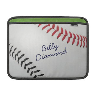 Baseball_Color Laces_rd_bk_autograph style 1 MacBook Air Sleeve