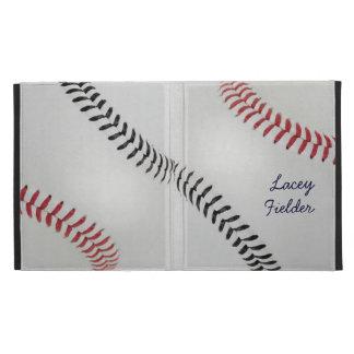 Baseball_Color Laces_rd_bk_autograph style 2 iPad Folio Cover