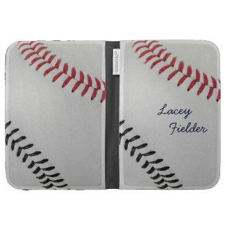 Baseball_Color Laces_rd_bk_autograph style 2 Kindle Cases