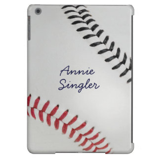 Baseball_Color Laces_rd_bk_autograph style 2 iPad Air Cover