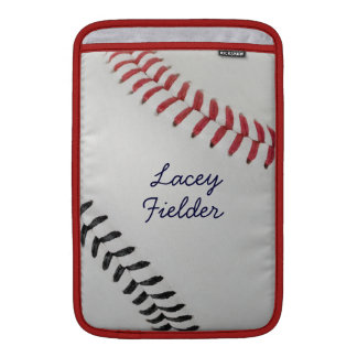 Baseball_Color Laces_rd_bk_autograph style 2 MacBook Sleeve