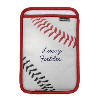 Baseball_Color Laces_rd_bk_autograph style 2 iPad Mini Sleeve