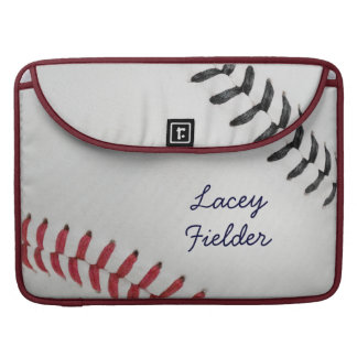 Baseball_Color Laces_rd_bk_autograph style 2 MacBook Pro Sleeve