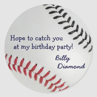Baseball_Color Laces_rd_bk_Birthday party Stickers