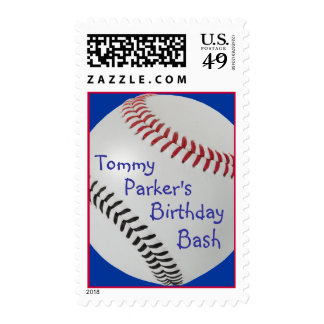 Baseball_Color Laces_RD_BK_personalized Stamp