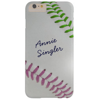 Baseball_Color Laces_Stitching_mv_lg_personalized Funda Para iPhone 6 Plus Barely There