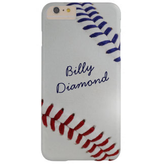 Baseball_Color Laces_Stitching_nb_dr_personalized Funda De iPhone 6 Plus Barely There