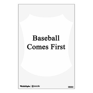 Baseball Comes First Room Graphics
