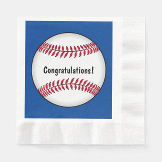Baseball Congratulations Napkin