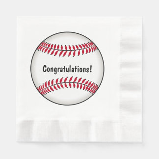 Baseball Congratulations Paper Napkin
