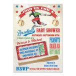 "Baseball Couples Baby Shower Invitations 5"" X 7"" Invitation Card"