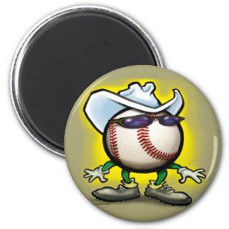 Baseball Cowboy Magnet