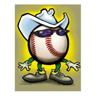 Baseball Cowboy Postcard