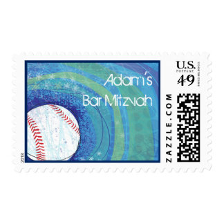 BASEBALL CRAZE Bar Mitzvah Postage Stamp