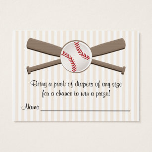 Baseball business cards templates zazzle baseball crossed bats diaper raffle cards colourmoves Choice Image