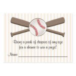 Baseball Crossed Bats Diaper Raffle Cards Large Business Cards (Pack Of 100)