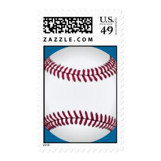 Baseball Custom Postage Stamps (Blue)