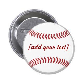 Baseball [custom text] buttons
