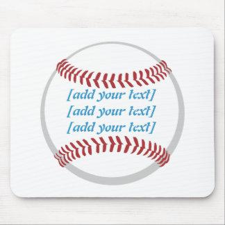 Baseball [custom text] mouse pads