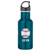Baseball Custom Water Bottle