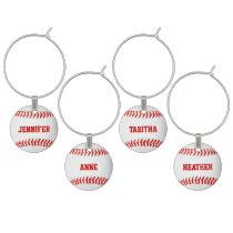 Baseball Custom Wine Charms