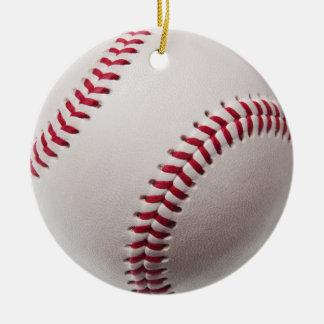 Baseball - Customized Double-Sided Ceramic Round Christmas Ornament