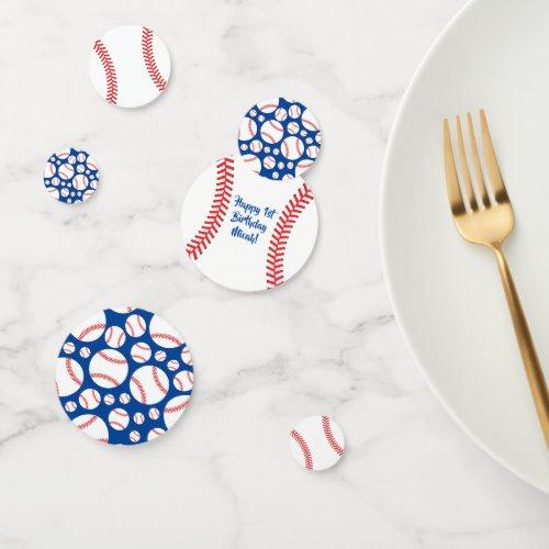Baseball Cute Sports 1st Birthday Party Confetti