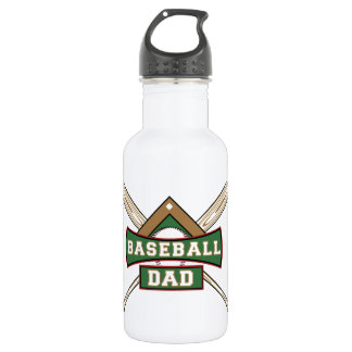 Baseball Dad 32 oz. Stainless Steel Water Bottle