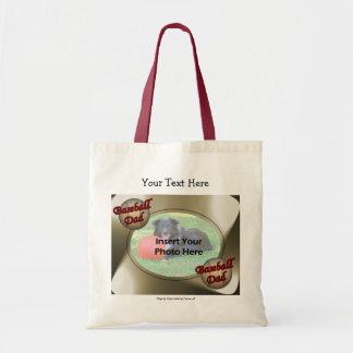 Baseball Dad Add Your Photo Template Tote Bag