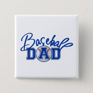 Baseball DAD blue Button