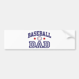 Baseball Dad Bumper Sticker