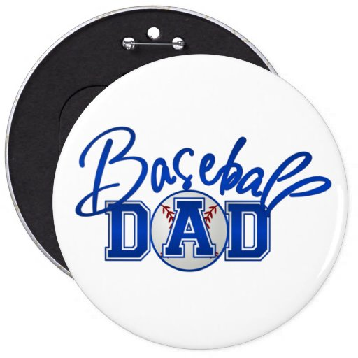 Baseball Dad Buttons