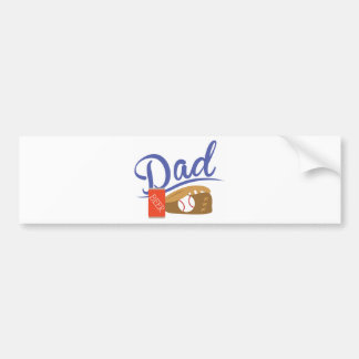 Baseball Dad Car Bumper Sticker