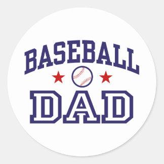 Baseball Dad Classic Round Sticker