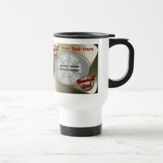 Baseball Dad Design Photo Coffee Mugs
