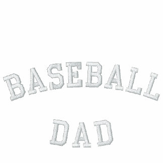BASEBALL DAD Embroidered Track Jacket