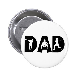 Baseball Dad Father's Day 2 Inch Round Button