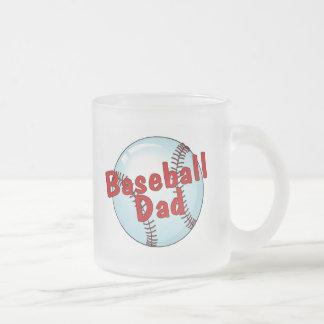 Baseball Dad Frosted Glass Coffee Mug