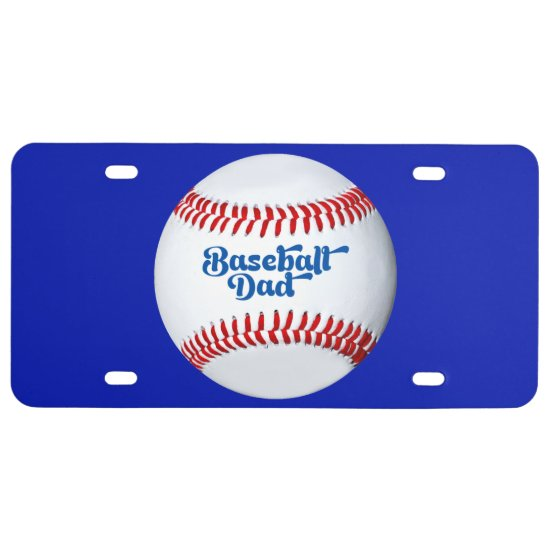 Baseball Dad Gift Idea Theme License Plate