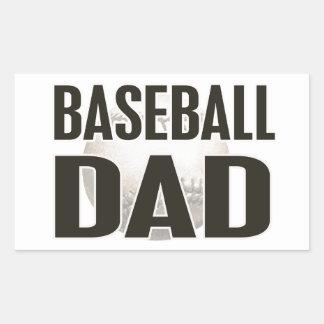 Baseball Dad Gifts Rectangular Sticker