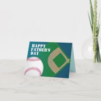 Baseball Dad Happy Father's Day Card card