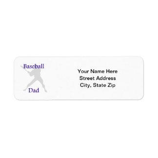 Baseball Dad Label