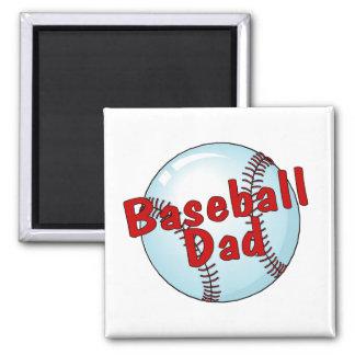 Baseball Dad 2 Inch Square Magnet