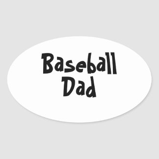 Baseball Dad Oval Stickers