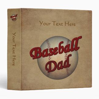 Baseball Dad Personalized Avery Binder