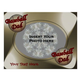 Baseball Dad Photo Template Poster