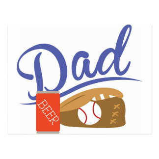 Baseball Dad Postcard