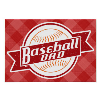 Baseball Dad Poster Print