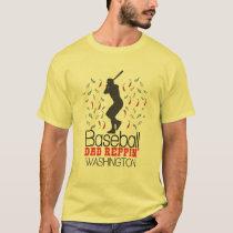 Baseball Dad Reppin' Washington T-Shirt