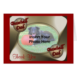 Baseball Dad Thank You Photo Card